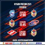 19 сентября прошла жеребьёвка групповой стадии Кубка России 2021.